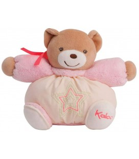 Kaloo Follies Doudou P'tit Ourson Crème rose 18 cm