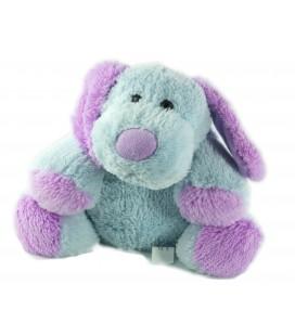 Peluche doudou chien bleu mauve Gifi 30 cm