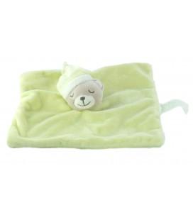 Doudou plat ours dormeur vert Kimbaloo