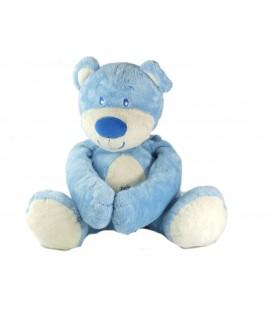 Peluche doudou ours bleu Petit Kimbaloo assis 32 cm scratchs aux mains