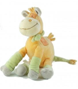 Peluche doudou girafe orange vert Kimbaloo 30 cm