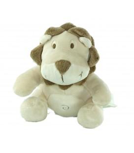 Peluche doudou lion beige marron Kimbaloo La Halle 18 cm
