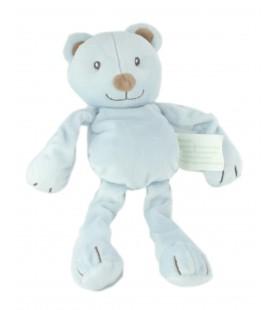 Doudou ours bleu Kimbaloo La Halle ! 26 cm