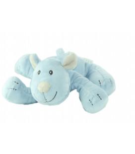 Doudou chien bleu allongé 20 cm Petit Kimbaloo La Halle !