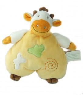 Doudou vache orange 24 cm Petit Kimbaloo La Halle !