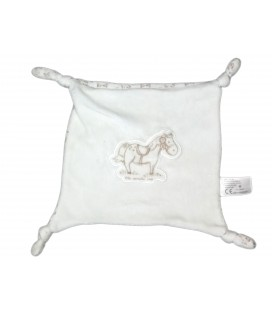 Doudou plat blancbeige cheval The number one Carrefour CMI
