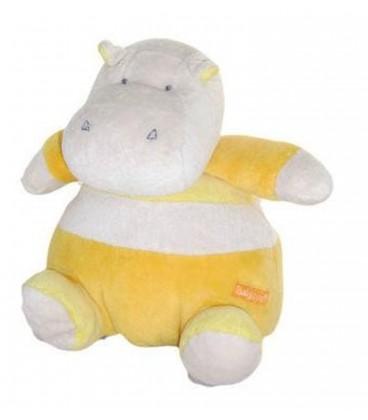 Doudou hippopotame jaune orange Babysun Grelot 20cm