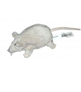 Peluche Doudou Rat Souris grise - Gosig Ratta - IKEA 22 cm avec étiquttes en tissu