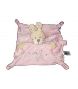 Doudou plat rose ours etoiles lapin Simba Toys Benelux