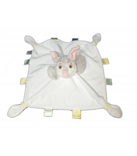 Doudou Plat Panpan Pan Pan Thumper Gris Blanc étiquettes Disney Store