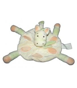 kimbaloo-la-halle-doudou-plat-rond-cheval-poney-jaune-orange-vert