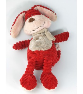 Doudou lapin rouge Bengy 34 cm