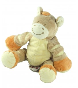 Doudou cheval beige orange - BENGY Amtoys 16 cm assis - 2005