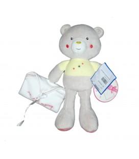 Doudou ours gris jaune etoiles Un petit message Sucre d Orge NEUF ETIQUETTE