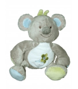 Bebisol Doudou Koala Panda gris vert bleu Arthur et Lola