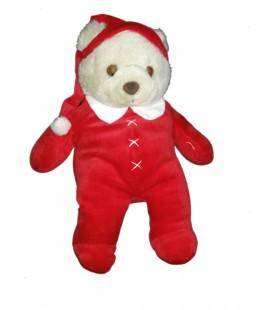Peluche Ours pyjama rouge dormeur Bonnet DAMART Perfectel 40 cm Collection
