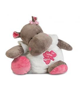 Baby nat Peluche doudou Range Pyjama Zoe l Hippo Rose 36 cm