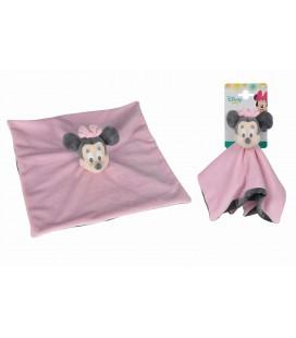 Doudou plat rose gris Minnie Disney Baby 587/5849 Kiabi Nicotoy Simba