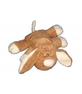 Doudou peluche chien allonge marron DUPUIS 22 cm PM bouclettes