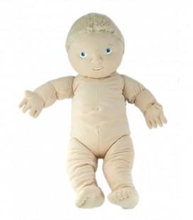 IKEA Doudou Poupon Poupée garçon blond yeux bleus Lekkamrat 48 cm