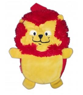 Doudou peluche bouillotte Lion jaune Animals 26 cm Vendu sans bouillotte
