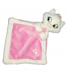 Doudou plat rose blanc noeud Marie Les Aristochats Disney Baby Nicotoy