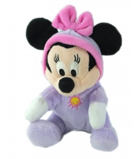 Peluche doudou Minnie Pyjama mauve soleil 20 cm Disney Nicotoy