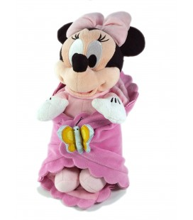 Peluche doudou Minnie Couverture Papillon 35 cm Disneyland Disney Paris
