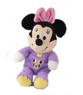 Peluche doudou Minnie pyjama mauve 30 cm Disney Nicotoy