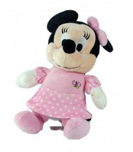 Peluche musicale doudou Minnie Papillon Disney Nicotoy 23 cm