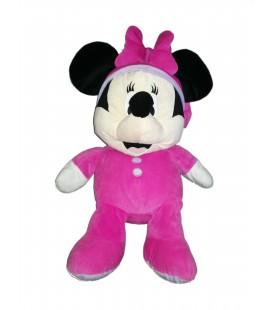 Peluche doudou Minnie pyjama rose fushia mauve 55 cm Disney Nicotoy 587/1446