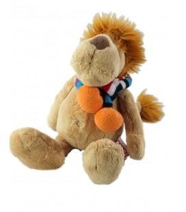 Doudou Peluche Lion beige Nici Echarpe 28 cm