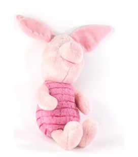 Doudou peluche Porcinet Disney Nicotoy Rose 587/9529 40 cm oreilles levées