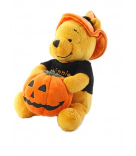 COLLECTOR Peluche Winnie Citrouille Halloween 24 cm Pumkin Pooh Plush Disney Store London