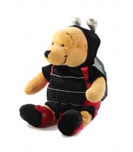 Peluche doudou Winnie deguise coccinelle 22 cm Walt Disney Store Collector