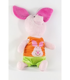 Peluche doudou Porcinet Short vert T shirt orange Disney Nicotoy 587/3921 36 cm