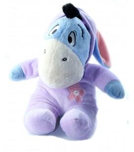 Peluche doudou Bourriquet Pyjama mauve fleur rose 32 cm Disney Nicotoy 587/3700