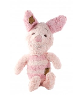 Peluche Doudou Porcinet 32 cm Disney Nicotoy 587/9850 rose clair carre rectangles marrons