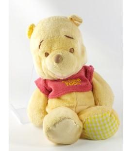 Peluche doudou Winnie Disney Nicotoy 28 cm Tissu vichy satine
