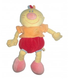Peluche doudou Billy Garçon orange rouge Nattou 28 cm