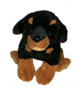 Peluche doudou chien bebe chiot beauceron 22 cm Carrefour CMI