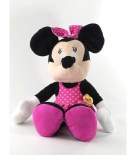 Peluche Minnie Serviette jaune piscine maillot de bain robe rose pois 42 cm Disney Nicotoy