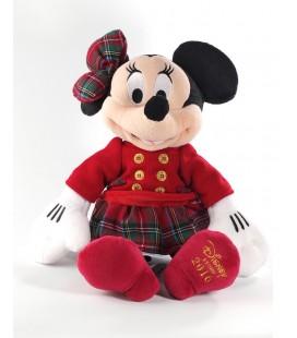 Peluche doudou Minnie Disney Store robe noeud ecossais 40 cm Disney Store 2016