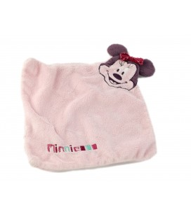 Doudou plat tete minnie rose violet Disney