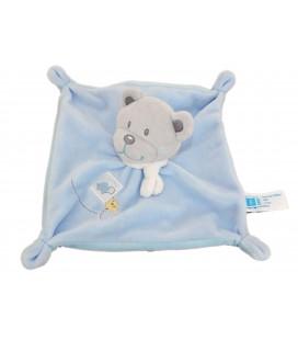 Doudou plat OURS bleu - Tortue - TEX Baby Carrefour CMI - I509794