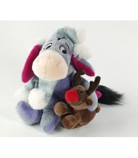Collector Peluche doudou Bourriquet Renne Noel 18 cm Eeyore W/Reindeer Disney Store