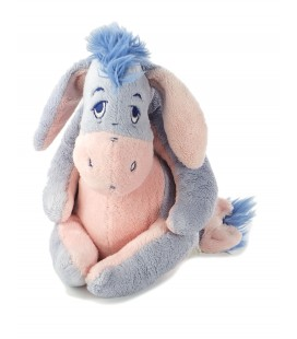 Peluche doudou Bourriquet Disney Baby Nicotoy 25 cm bleu ciel rose