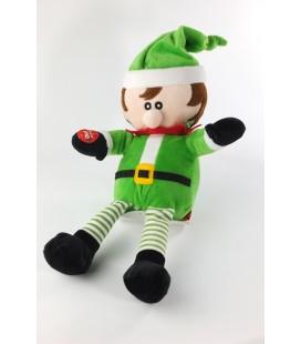 """Doudou peluche Père Noël Sonore Chante """"Jingle Bell"""" 35 cm Fizzy"""