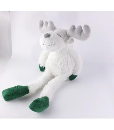 a036add47de4 Peluche doudou Renne elan cerf blanc vert Courtepaille peluche Noel 42 cm  chez vous des demain