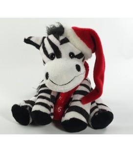 Peluche doudou Zèbre bonnet echarpe rouge Joyeux Noel 2006 18 cm Amadeus International